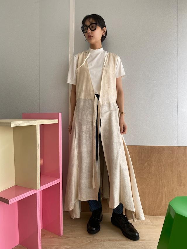 """Wrapped  long dress """"natural """" muga silk"""