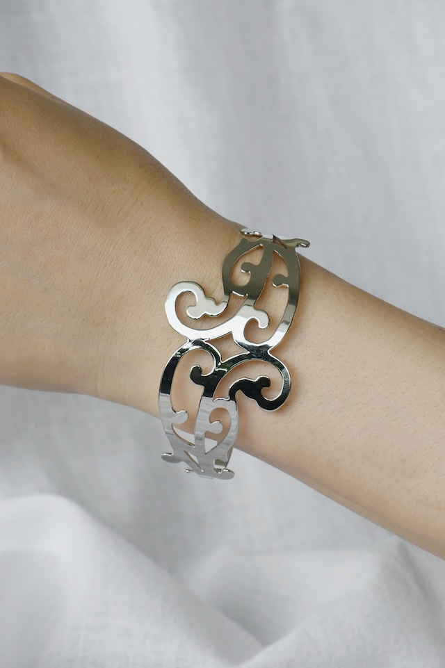 "Arabesque Design Bangle ""double"" silver アラベスクバングル ダブル シルバー"