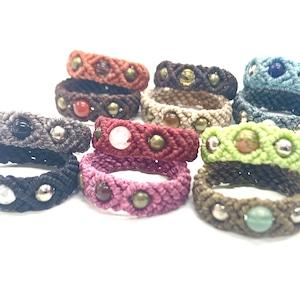 マクラメ編みのシンプルリング(指輪)