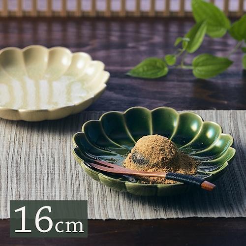 MM-0083 【16cm りんかプレート】 和菓子がよく似合う菊型のお皿。