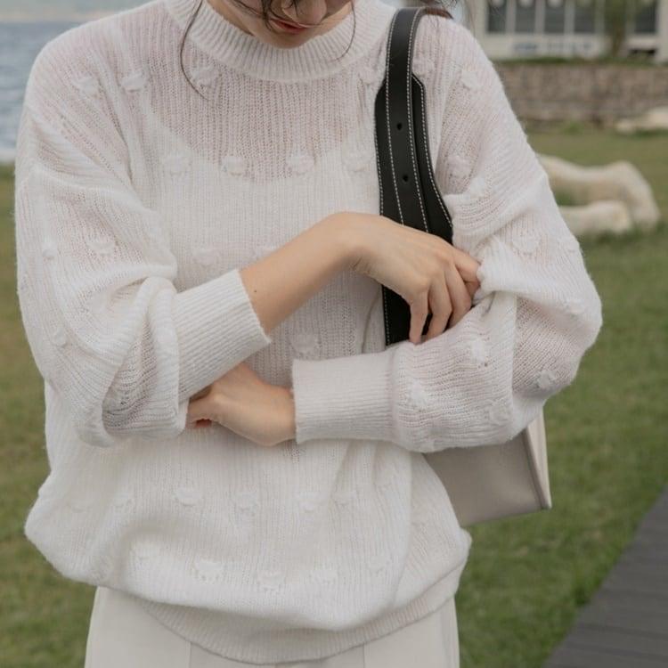Dot knit sweater(ドットニットセーター)b-491