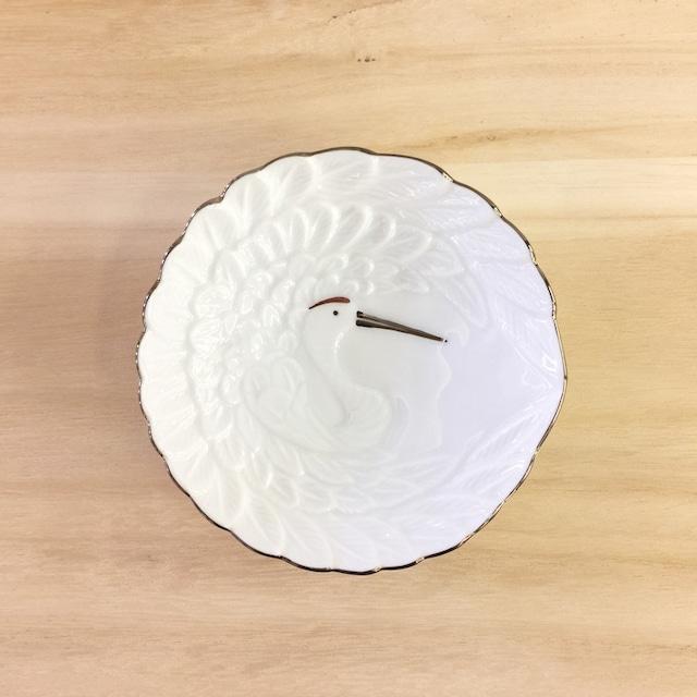 プラチナライン 鶴型小皿