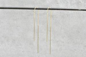 Hook & Chain Pierce / K18YG
