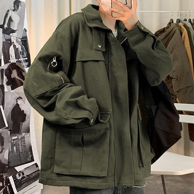 【アウター】ファッションルーズカジュアルファスナー付きジャケット42908751