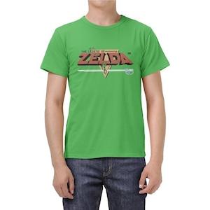 Tシャツ ゼルダの伝説 ロゴ グリーン
