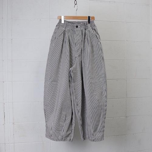 【HARVESTY】CHINO CIRCUS PANTS (INDIGO STRIPE) (UNISEX) サーカスパンツ ユニセックス 日本製 ハーベスティ