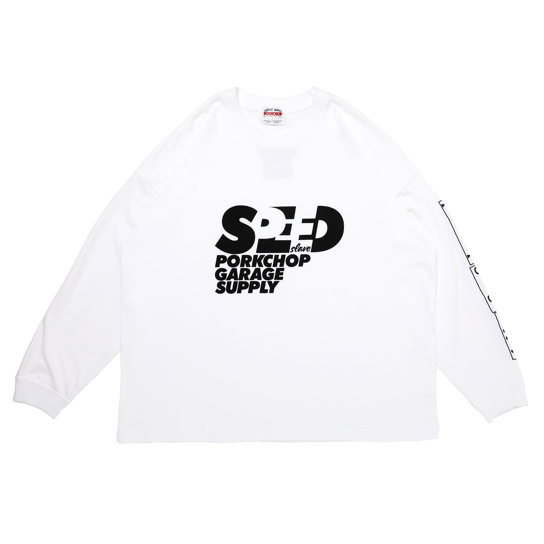 SPEED SLAVE L/S TEE/WHITE