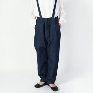 """【SETTO】 HANG PANTS """"DENIM"""" (UNISEX) セット デニム サスペンダーパンツ"""