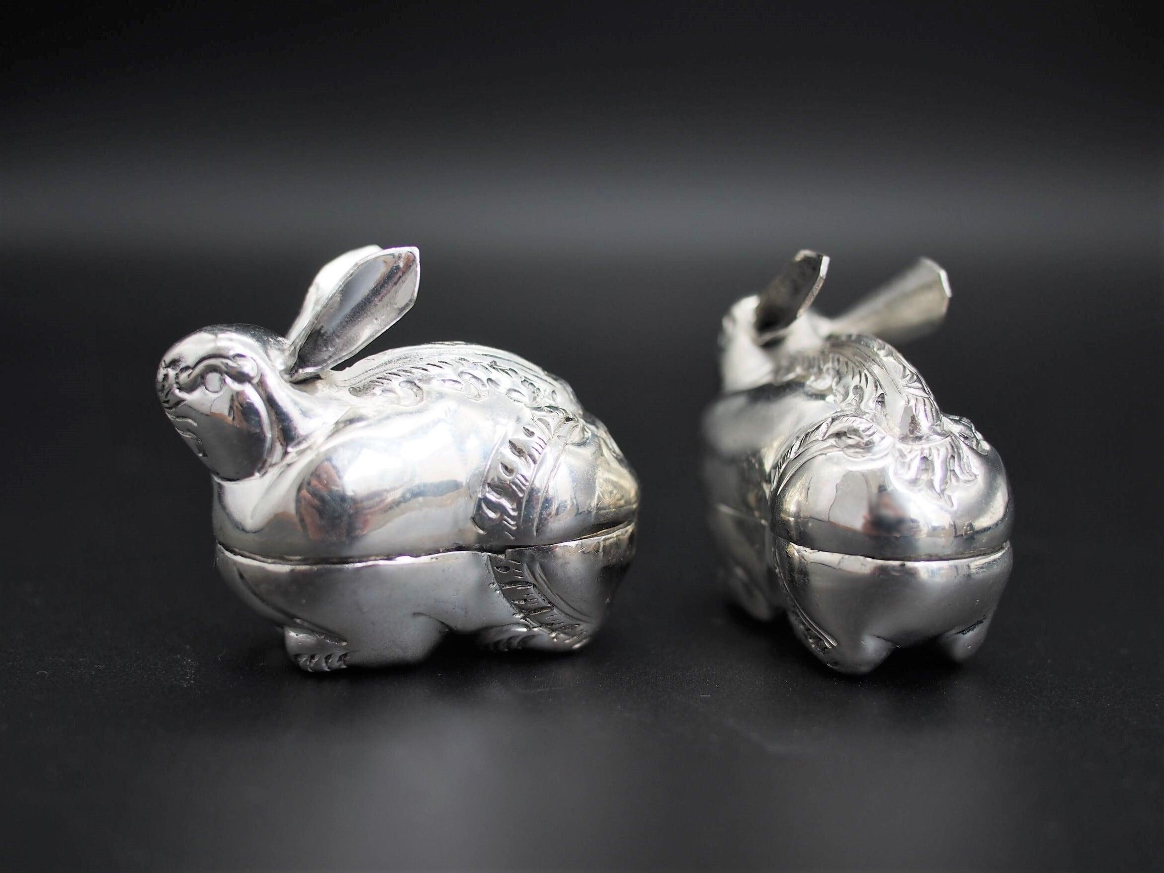 「ウサギ」カンボジアシルバー/テーブルウェア/オブジェ/シルバーウェア