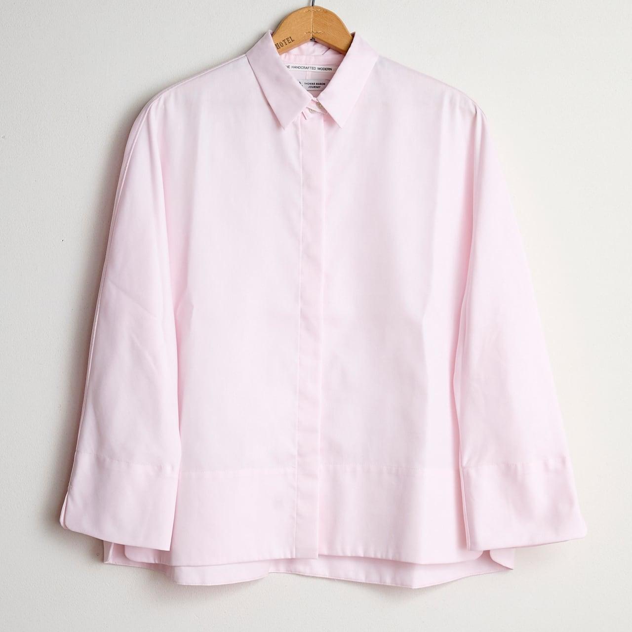 TENNE HANDCRAFTED MODERN テンハンドクラフテッドモダン  GUZZET SLEEVE SHIRTS pink