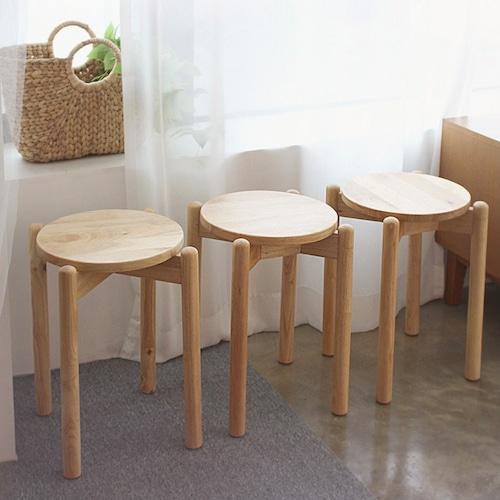 wood circle stool A / ウッド サークル スツール チェア 椅子 木製 カフェ 韓国 北欧