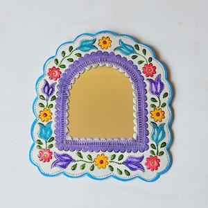 メキシコ ブリキ鏡(002)