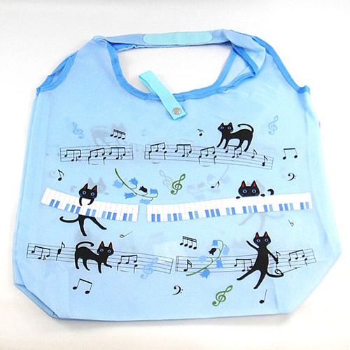 NEKOにゃ~ご たためる袋(音符・ブルー)(D-025OB)