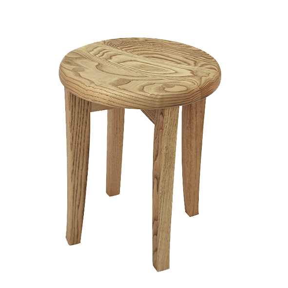 栗の木の丸スツールS 【G38】