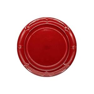 Koyo ラフィネ リムプレート 皿 約19.5cm ヴィンテージレッド 15944106