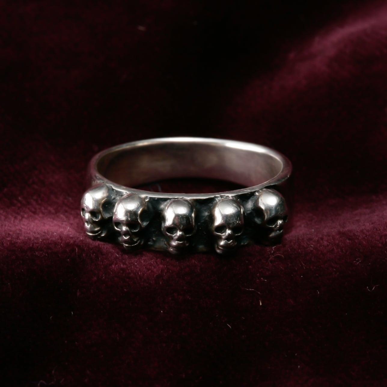 5 Skull Ring