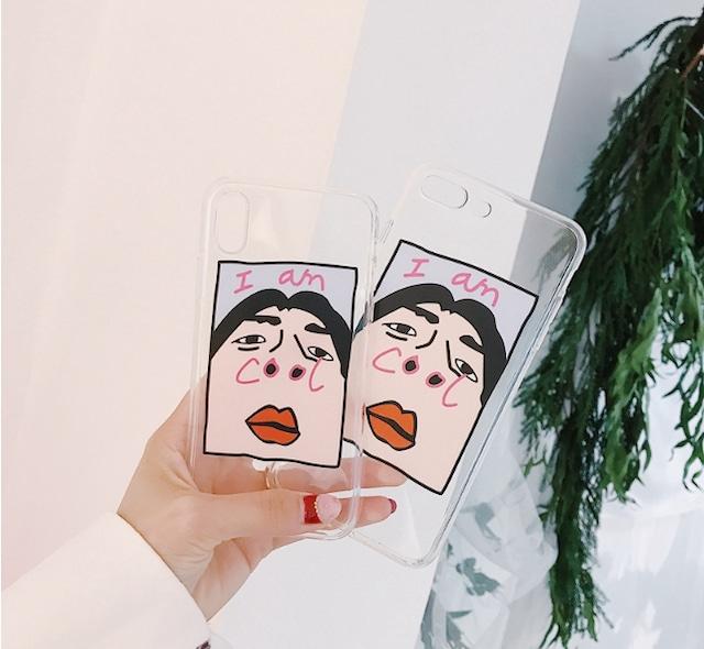 I`am Cool 個性的 iPhoneケース 韓国 ファッション おもしろ iphonexs iphonexsmax iphonexr