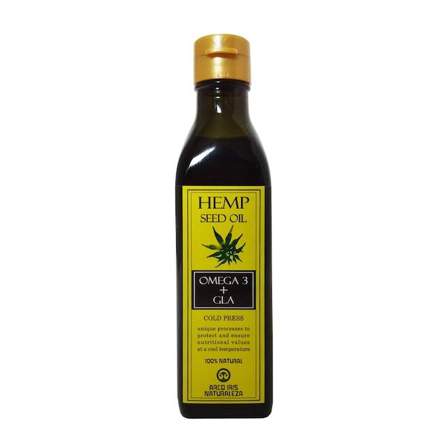 ヘンプシードオイル 麻の実オイル 180g オメガ6 オメガ3 GLA 食品添加物不使用 無農薬 未精製オイル 低温圧搾[宅急便]