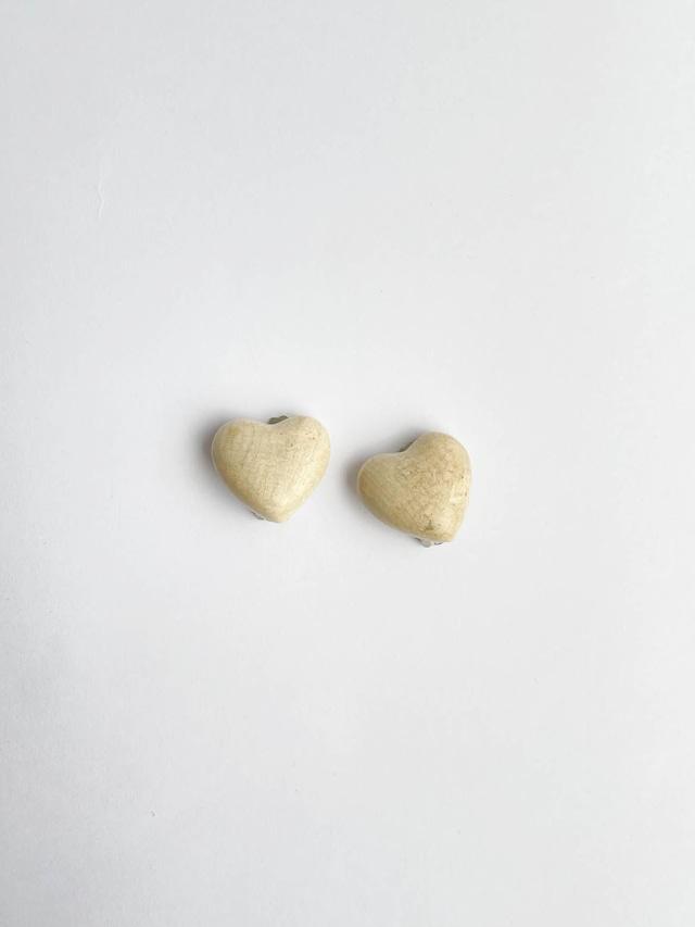 VINTAGE HEART grain earrings
