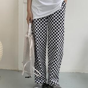 Checker board pants(チェッカーボードパンツ)b-248