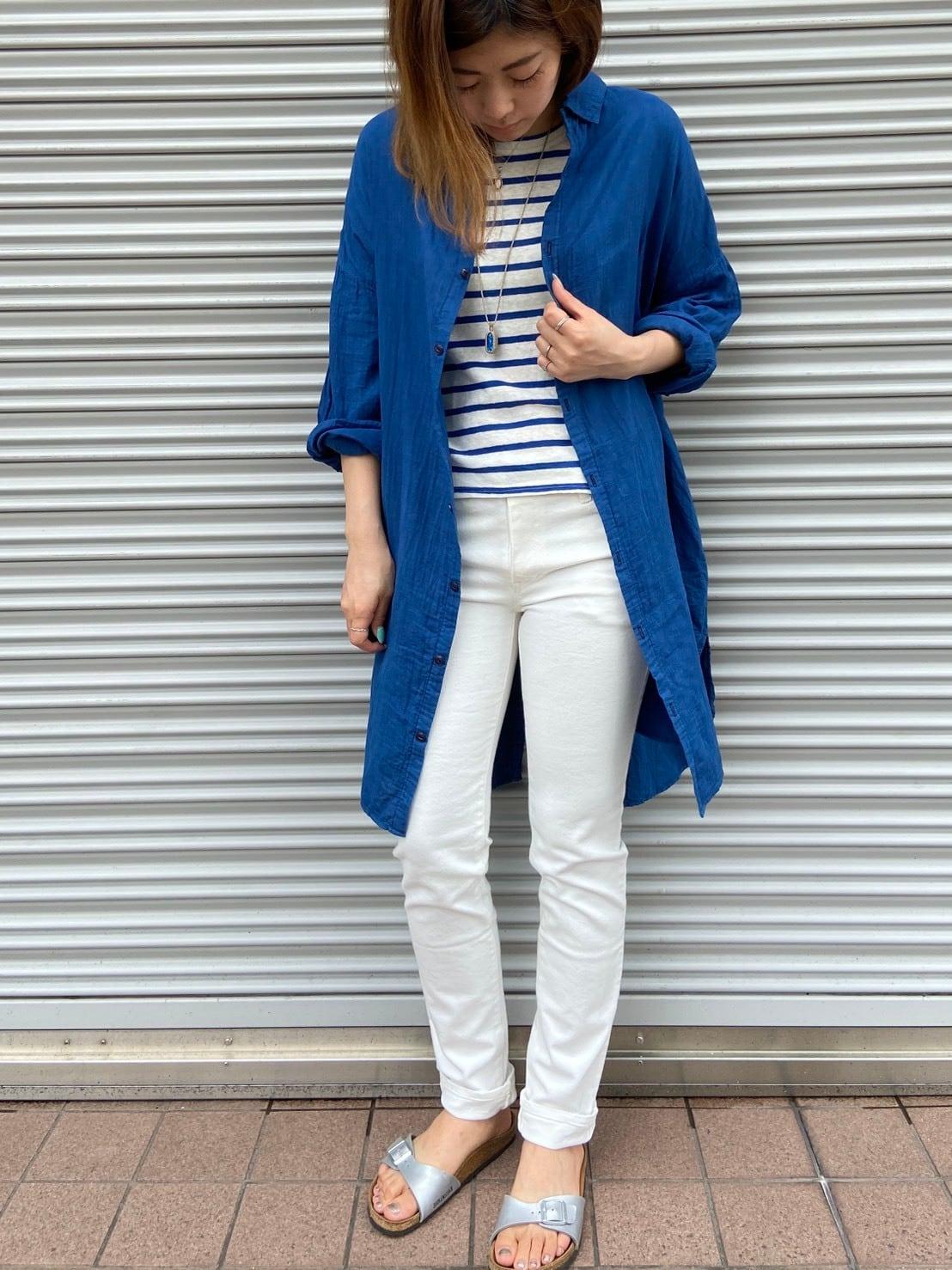 【shimaai×OW】藍染BIGシャツ