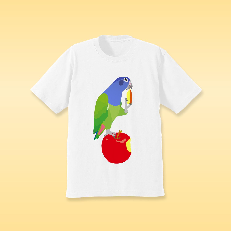りんごとアケボノインコ Tシャツ