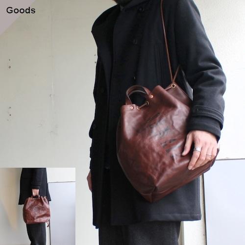 【再入荷!】vasco レザー巾着バッグ LEATHER MAILMAN PURSE BAG   VS-210L ブラウン