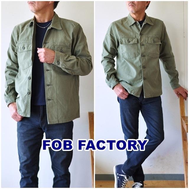 FOB FACTORY (FOBファクトリー)  F2362  ファティーグジャケット / ユーティリティーシャツ / メンズ / ミリタリー / 日本製 / FATIGUE JACKET