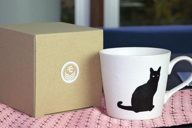『座り猫』 『白マット』『単品』『 温感グレーズ』ネコ 猫 マニア キャット マグカップ コーヒー プレゼント カワイイ 温度で変化 笑顔