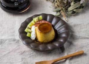 サビ釉 輪花深皿 小(信楽焼・小皿・ケーキ皿)/古谷 浩一