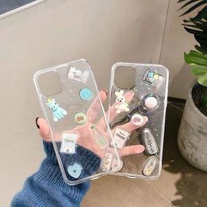 予約 スマホケース iPhoneケース アイフォンケース クリアケース 透明 うさぎ ウサギ ユニコーン ゆめかわ 立体的 3D パステルカラー  可愛い かわいい iPhone12  iPhone11  iPhoneX  iPhone8  iPhone7  iPhone6 promax pro Plus h1043