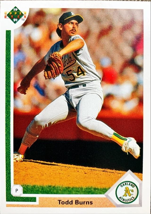 MLBカード 91UPPERDECK Todd Burns #405 ATHLETICS