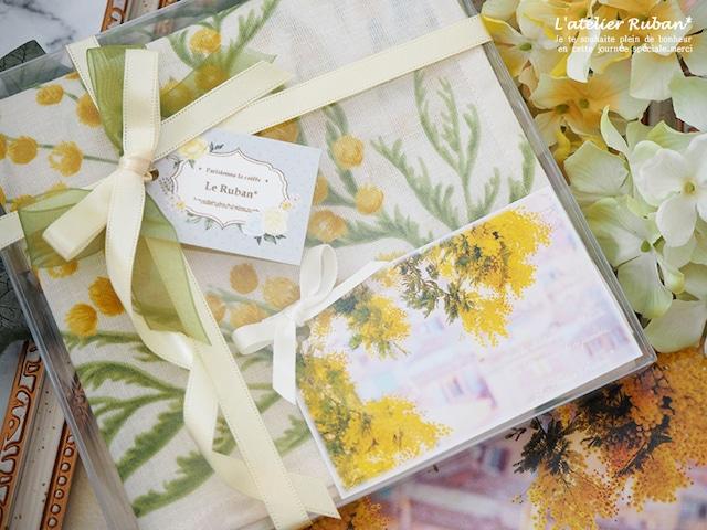 【有料ラッピング】クリアBOX・ハンカチ&ナプキンサイズ