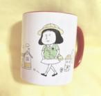 人生に疲れている園児ちゃんマグカップ