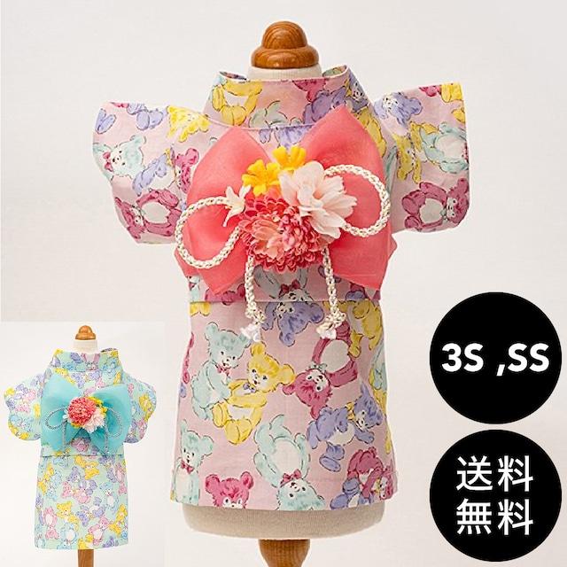 Luludoll(ルルドール)chikata くまさん浴衣 3S ,SSサイズ ゆうパケット送料無料