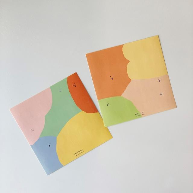 [pppstudio] color moyang ステッカー(2シート入り)