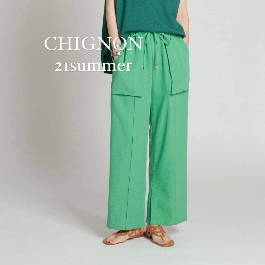 【 chignon 】- 1611-437 - ベイカーイージーパンツ