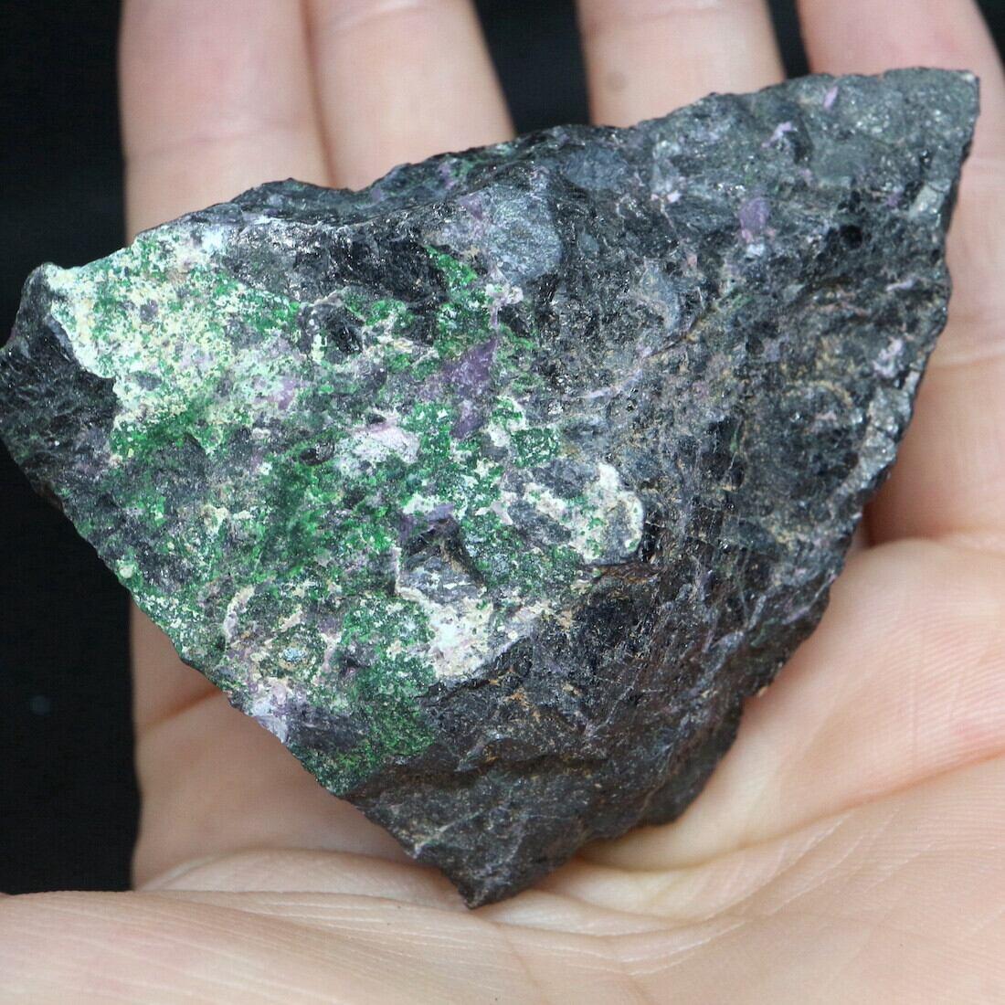 レア共生!ウバロバイト カメレライト クロム鉄鉱  カリフォルニア産 181,9g CHM003 鉱物 鉱石 天然石パ ワーストーン 標本