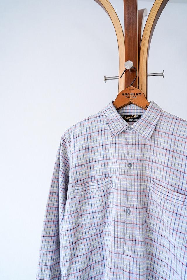 "【1950-60s】""Netherland Made"" Euro Vintage Grandpa Shirts / v640"