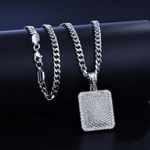 Iced Out Square Necklace