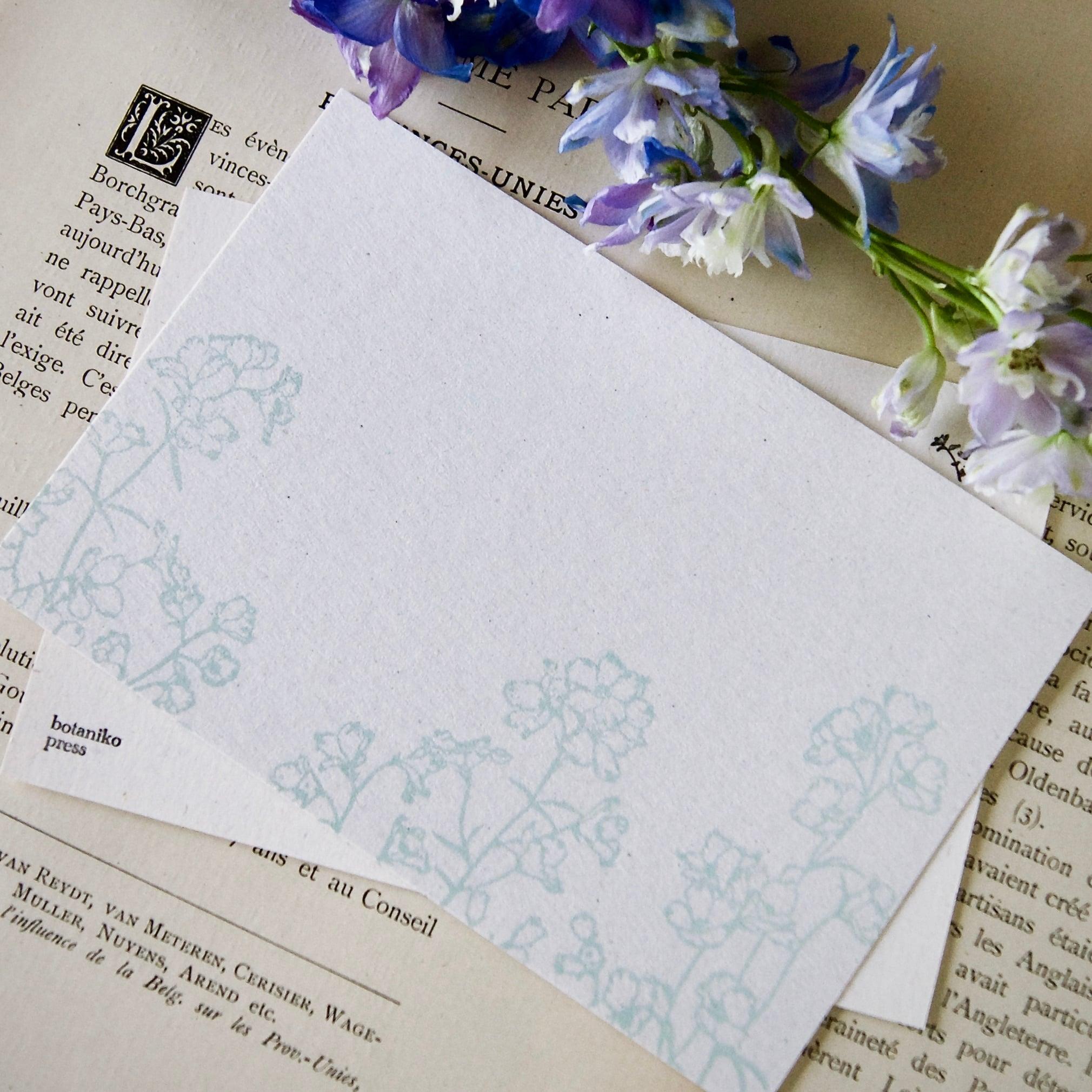 【ポストカード】デルフィニウム  / 100×148mm/活版印刷