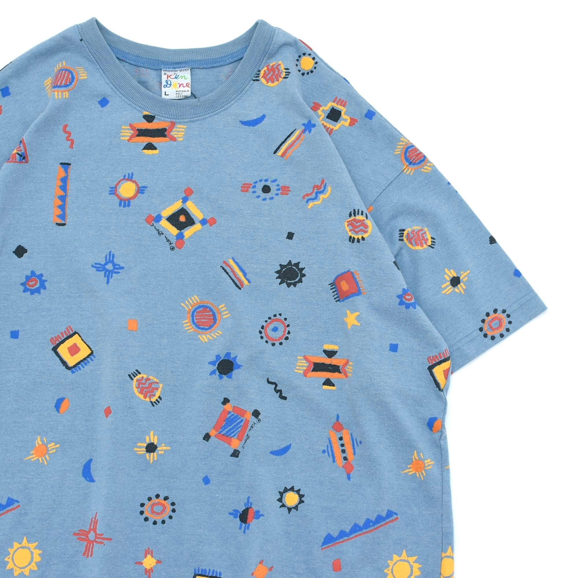 Design by Ken Done full pattarn T-shirt Made in Australia