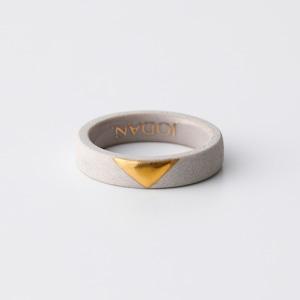 JODAN. aroma ring___Light Beige(triangle)香りを染み込ませるアロマリング