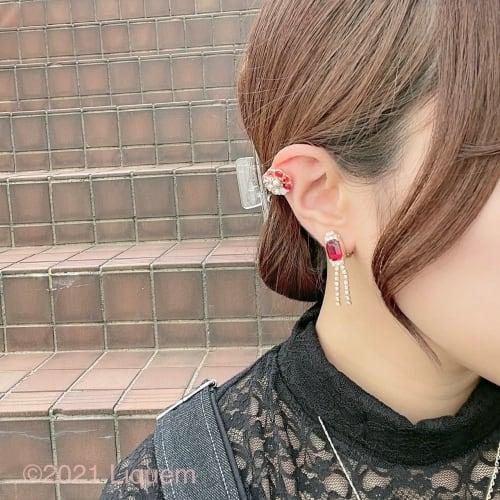 YUKI × Liquem / ミニビジューシャンデリアピアス