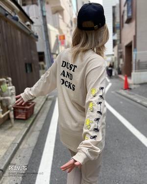 【PEANUTS】SNOOPY & WOODSTOCK × DUSTANDROCKS ロンT ピーナッツ スヌーピー コラボレーション