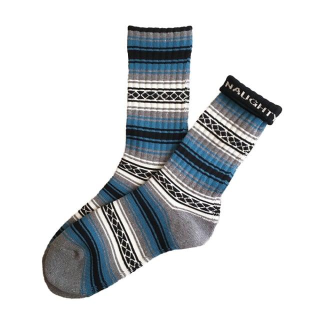 """FALSA -blue-"" Socks (limited edition by NAUGHTY)"