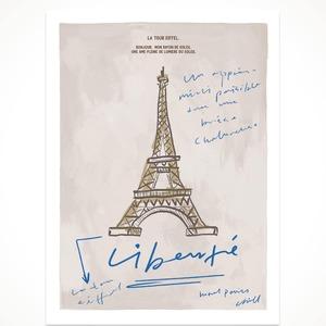 【韓国雑貨】hotel827. la tour eiffel postcardポストカード