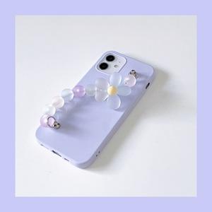 【お取り寄せ】パステル フラワーボールチェーン iPhoneケース