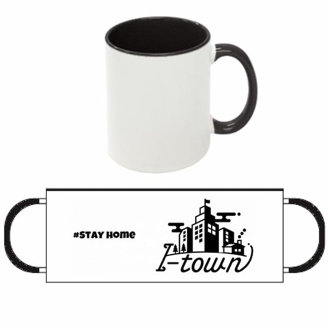 I-town 2トーンマグカップ #Stay home(ブラック)