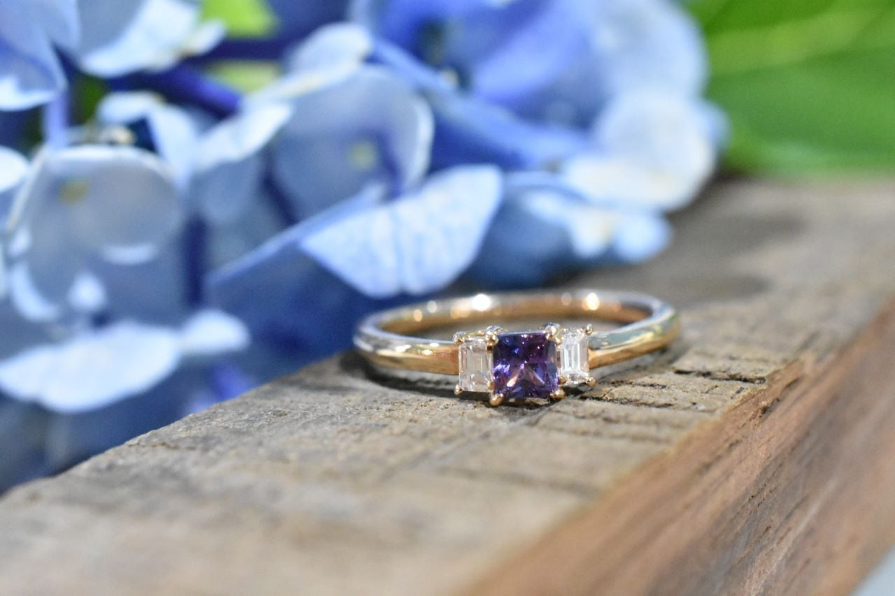 Fancy Sapphire Ring / K18PG